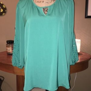 *market spruce* teal green tunic